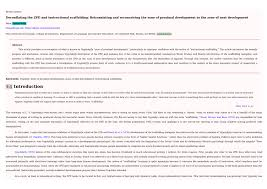 Scaffolding Definition Vygotsky Pdf Deconflating The Zpd And Instructional Scaffolding