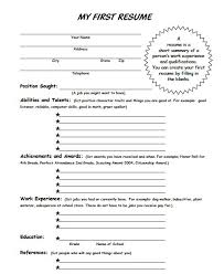 Writing Your First Resume How To Write First Resume For After Job