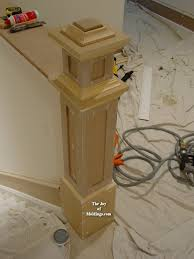 newel post at top of stairs