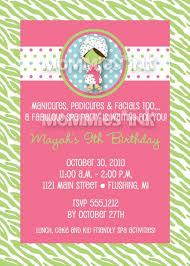 Modern Spa Party Birthday Invite Printable Invitation Design