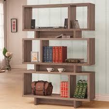 Backless Bookshelf w/ Staggered Shelves