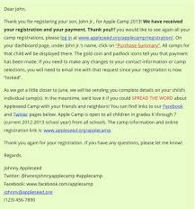 Request Emails Sample The Best Samples Of Event Registration Confirmation Email