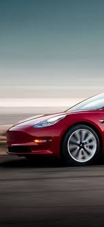 1125x2436 2018 Tesla Model 3 Iphone XS ...