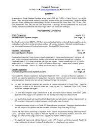 Vb Sql Programmer Sample Resume Resume Template Pl Sql Developer Sample Resume Free Career Resume 1