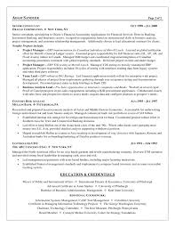 Business Analyst Finance Domain Resume Sample Financial Business Analyst Resumes Savebtsaco 2