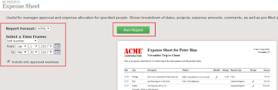 expense sheet expense sheet report clicktime support