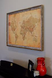 diy pinboard world map with push pins