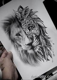 эскиз льва для тату на руку 08032019 001 Tattoo On Hand