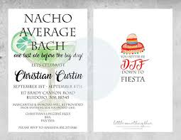 Fiesta Bachelorette Party Invitation Template // Nacho Average Bach ...