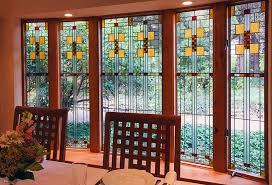 frank lloyd wight stained glass custom made windows