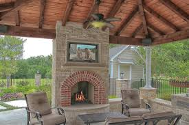 outdoor fireplaces most appropriate place for fireplace tv