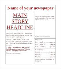 Microsoft Newspaper Article Template New Article Template Thirdbattalion Info