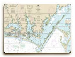 Nc Beaufort Inlet Core Sound Nc Nautical Chart Sign