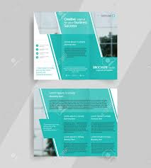 Tri Fold Brochure Layout Business Tri Fold Brochure Layout Design Vector A4 Brochure