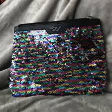 victoria s secret bags victoria secret sequined makeup bag clutch