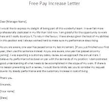 Raise Letter Sample Salary Increase Letter Template Pay Rate Hourly Notice