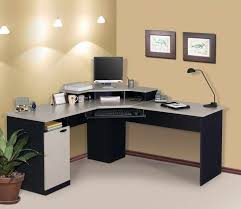 l shaped office desk ikea. Exellent Desk Attractive L Shaped Desks IKEA Relevant To Home Office With Keyboard Drawer  Combine Modern Desk Lamp Featuring Brown Colored Wall And White Rug Area  Ikea