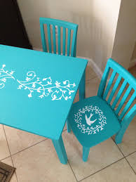 painted kids furniture. DIY Chalk Paint Kids Table And Chairs. Painted Furniture A