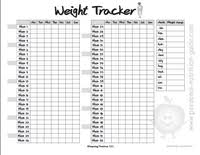 Printable Weight Chart Tracker Free Printable Weight Tracker