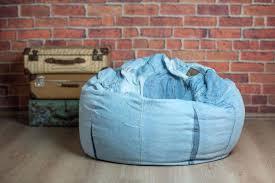 unique bean bag chair cover sofa denim jeans handmade blue cotton bar pocket