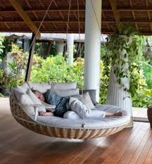 outstanding outdoor hanging beds for your home relaxing outdoor large round hanging bed rattan style