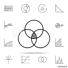 Bubble Chart Line Icon Chart And Diagram Icons Universal