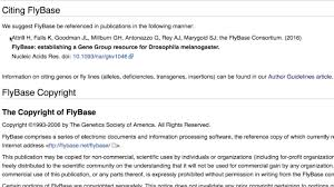How To Cite Flybase