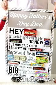 father s day candy bar poster printable