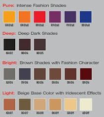 Elumen Color Chart In 2019 Elumen Haarfarbe Haarfarben