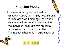different types of essays  8 position essay