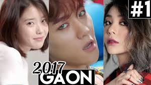 All Kpop Chart 2017 All 1 Kpop Songs Gaon Weekly Kpop Chart