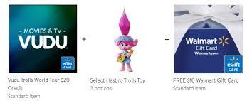 We did not find results for: Walmart Trolls World Tour 20 Vudu Egift Card Troll Toy From 39 Free 10 Walmart Egift Card Deals Finders