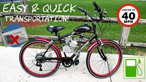 kent bayside cruiser bike 80cc motor build affordable no license required you