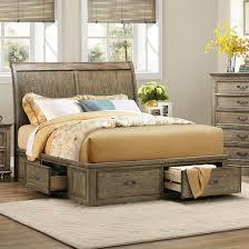 Driftwood Bedroom Furniture Homelegance Sylvania Eastern King Platform Bed With Storages In