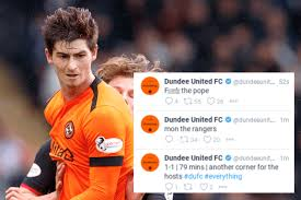 F The Pope Dundee United Apologise For Twitter And Facebook