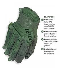 Mechanix M Pact Size Chart Gloves Mechanix M Pact Od Green