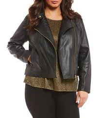 plus size leather faux leather coats