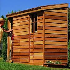 cedar garden shed. Cedar Shed 8 X 3 Ft. Yardsaver Storage Garden