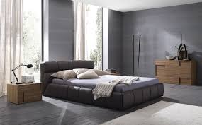 Modern Leather Bedroom Sets Modern Bedroom Set In Beige Or Brown Leather Upholstery Ohio
