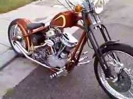 real deal old school style harley panhead chopper youtube