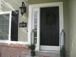 painted front door modern we kept our trim white painted the shutters and front door black