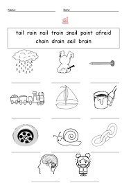 Writing and alphabet worksheets, a phonics workbook series and clipart. Phonics Worksheets Ai And Ay Sounds Teaching Resources