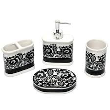 Black And White Bathroom Sets Large Size Of Bathroom Walls Pink And