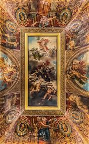 ceiling detail musee du louvre paris france