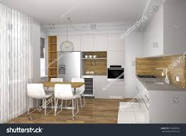 creative kitchen design. Modern Creative Kitchen Design In Light Interior. And Dining Room