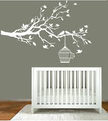 designs white tree wall sticker nursery uk with high