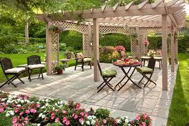 ... Interesting Design For Kid Backyard Landscape : Classy Kid Backyard  Landscape Design Ideas With Birch Wood ...