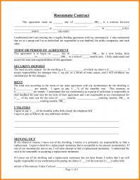 Sample Roommate Contract Roommate Contract Sample Rome Fontanacountryinn Com