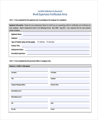 employment history verification form verification forms in pdf
