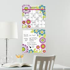 wall pops poppy dry erase board calendar combo 2 pc wall decals hayneedle